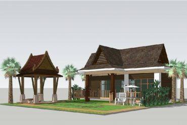 东南亚风格装配式民宿