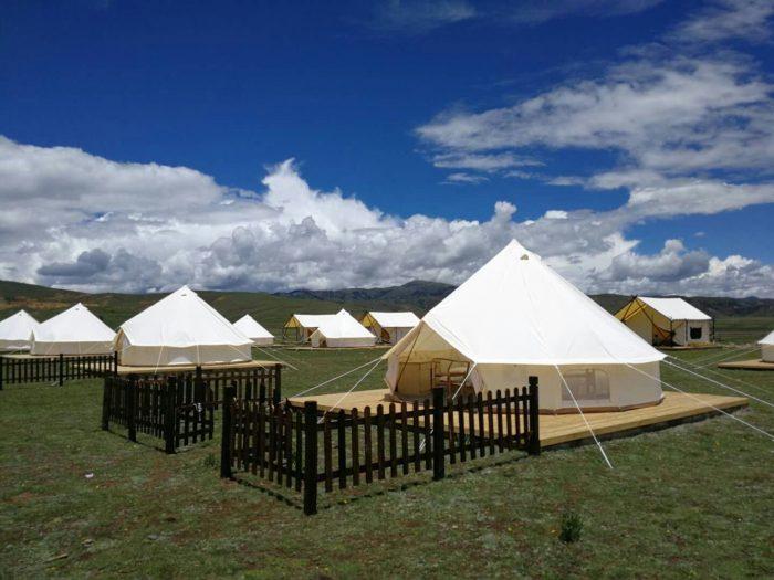四川甘孜州首家星空帐篷营地落户理塘汉戈村