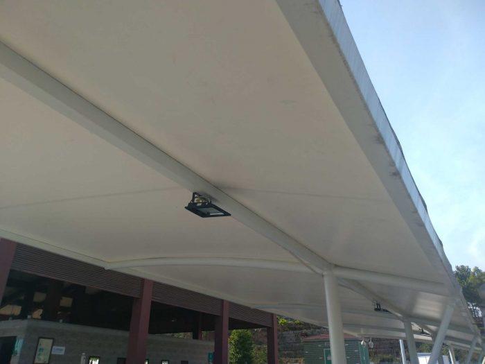 四川成都服务区停车棚(停车雨篷)工程施工