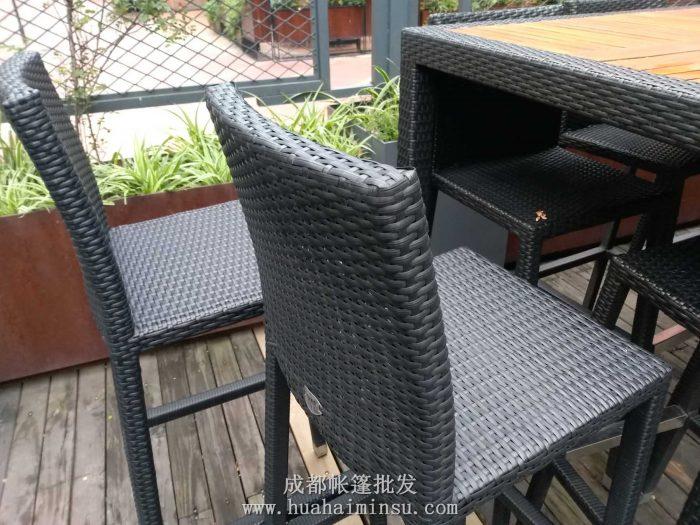 四川成都帐篷案例 绿地468商业外摆休闲伞和桌椅