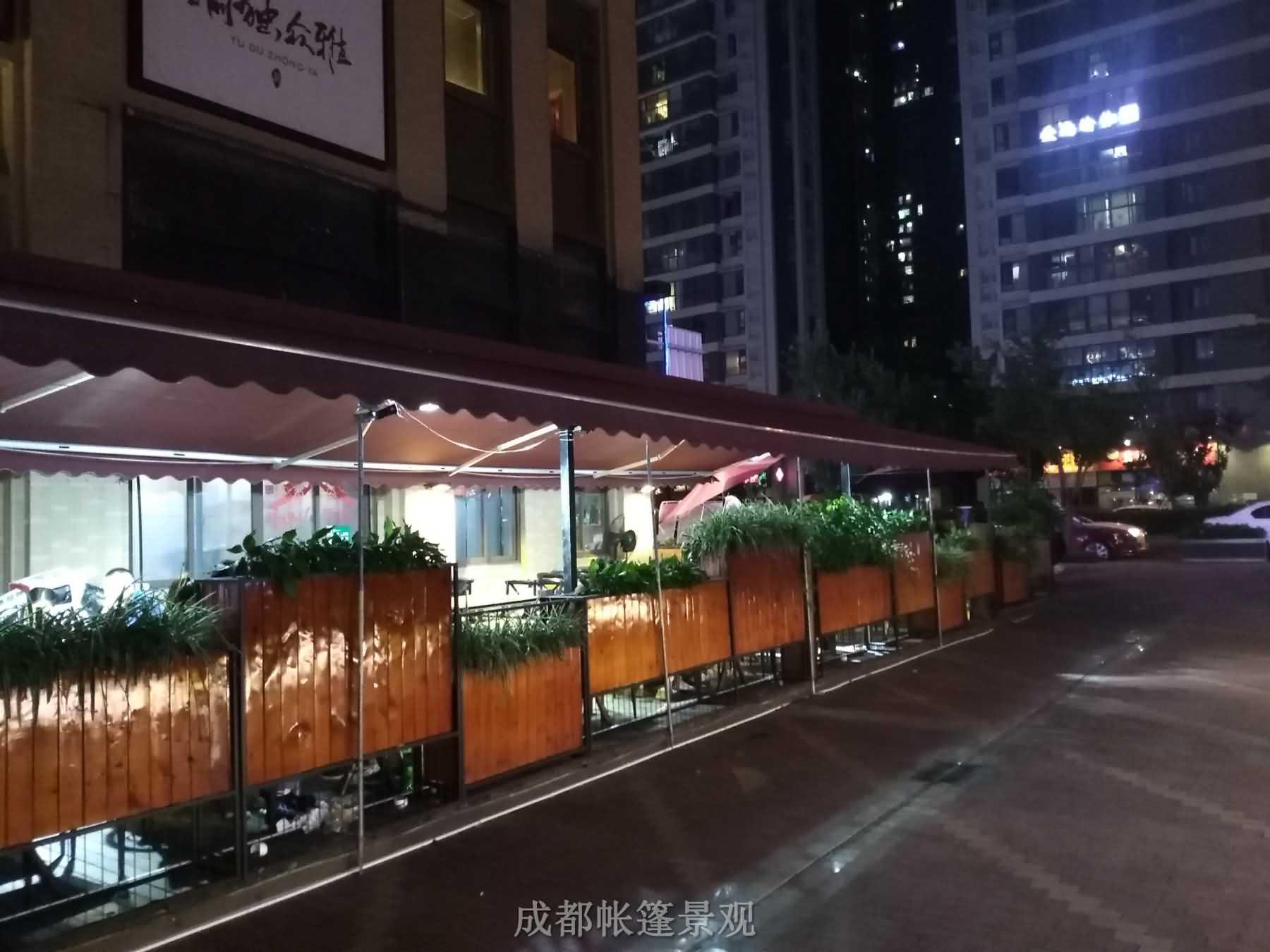 户外遮阳篷案例 绿地468商业街