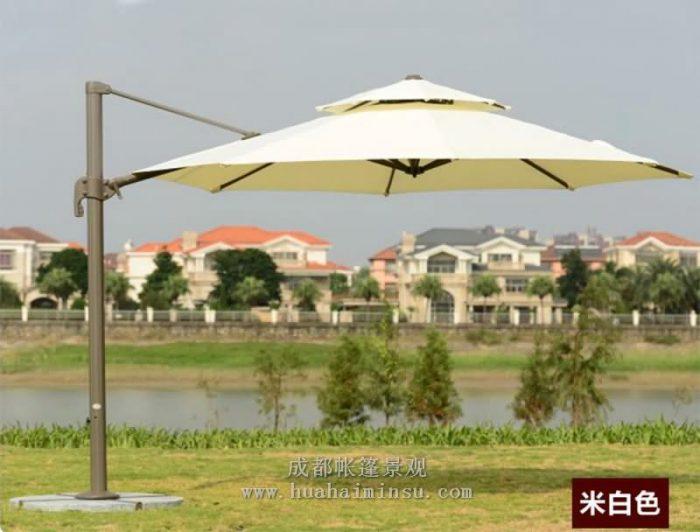 四川成都遮阳伞 新款双顶罗马伞