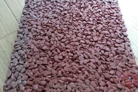 四川成都红色透水混凝土系列样板