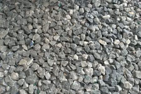 四川成都灰白混色透水混凝土样板