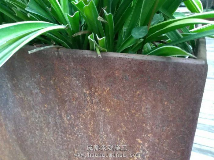 四川成都景观小品 耐候钢板花箱