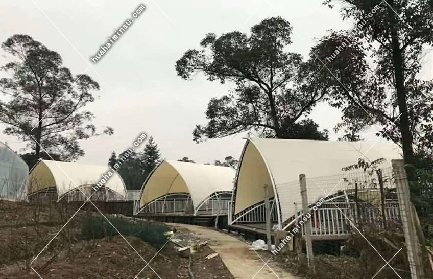 户外景区弧形营地帐篷