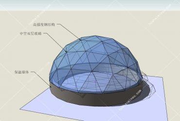 户外景区透明玻璃球形屋 网红野奢圆形玻璃屋星空屋WST600,打造你的盈利、网红、高档大气上档次民宿