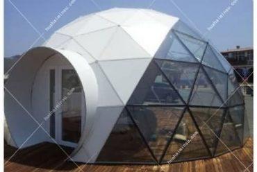 户外景区透明玻璃屋酒店帐篷 网红野奢圆形星空帐篷酒店WST601,高颜值游客喜爱玻璃屋景区帐篷酒店