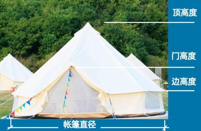 帆布帐篷高度