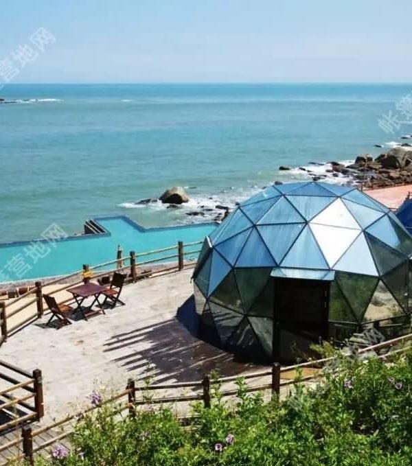民宿透明星空玻璃球形帐篷 野奢圆形玻璃屋酒店帐篷WST602