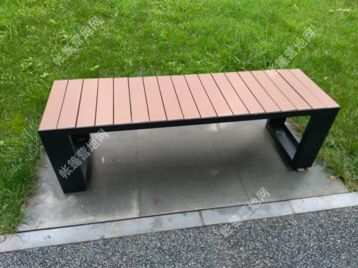 户外休闲仿木质钢结构座凳