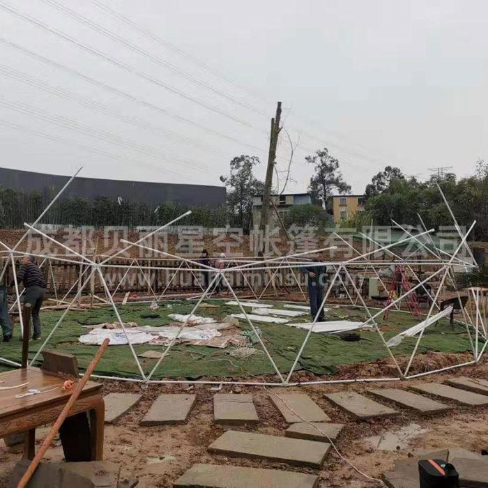 厂家定制户外大型10-30米球形帐篷星空帐篷