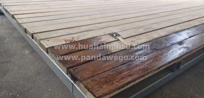 星空酒店帐篷营地建设之木平台基础