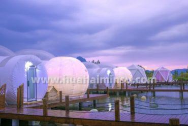 成都小鱼洞鱼凫湿地公园星空房泡泡屋,美景打卡一个都不能少