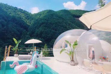都江堰天空之崖网红泡泡屋,打造一段浪漫传奇故事
