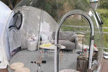 网红民宿酒店帐篷透明星空泡泡屋pc透明星空屋