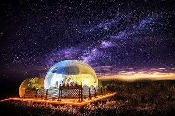 最新PC透明星空屋厂家生产的星空泡泡屋都有那些优点