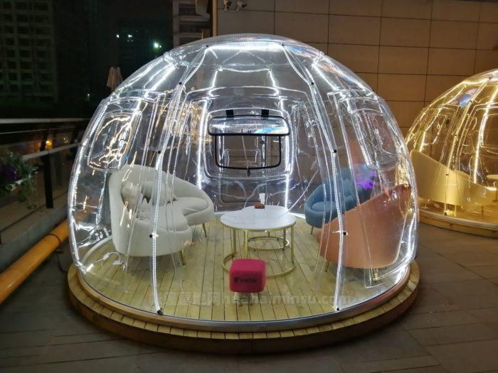 商业上演星语心愿,网红泡泡星空屋夜空的美好生活