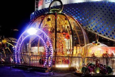 上海新天地圣诞星空房泡泡屋,打造白色浪漫圣诞节