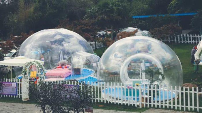 云南野鸭湖星空房泡泡屋,碰碰车、溜索、水上自行车一个都不能少