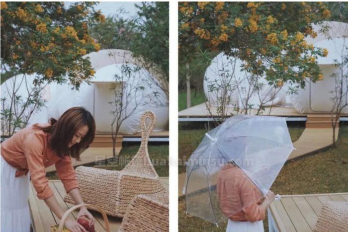 广西南宁桐余星空房泡泡屋,童话故事里的梦幻水晶球