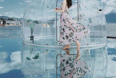 云南双廊星空房泡泡屋,拍照不要太美
