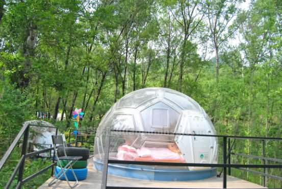 北京星空箭扣营地星空房泡泡屋,赏花赏月赏星空