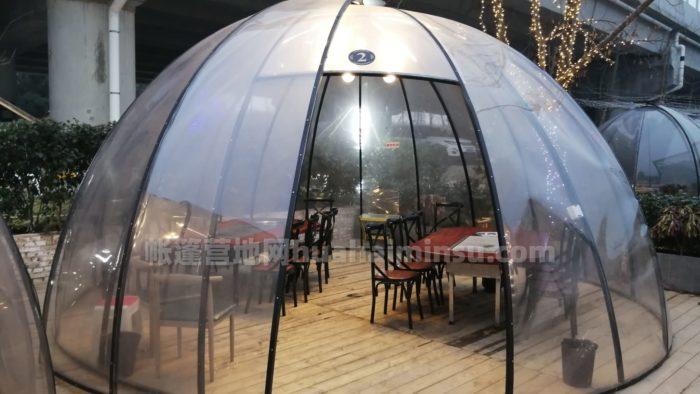 PC餐饮太空星空房泡泡屋,冬日里的营销网红