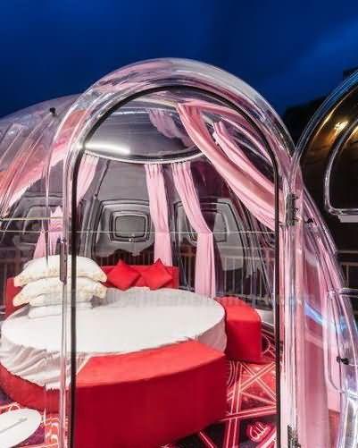 惠州星空房泡泡屋温泉别墅,度假多一处选择
